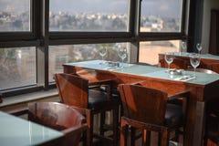 俯视镇的餐馆 库存图片