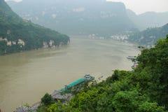俯视长江 免版税库存图片