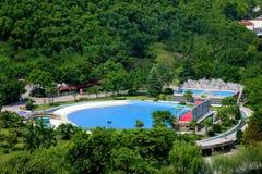 俯视风景温泉的重庆tongjingzhen 免版税图库摄影