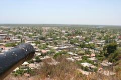 俯视,大炮,堡垒圣巴西廖 免版税库存照片