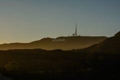 俯视洛杉矶的好莱坞标志 图库摄影