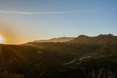 俯视洛杉矶的好莱坞标志 库存图片
