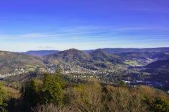 俯视Baden Baden谷  免版税库存照片