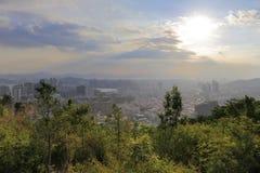 俯视dapingshan小山的haicang区 免版税图库摄影