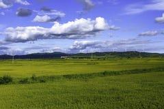 俯视Khanka的Fengmi山 免版税库存照片