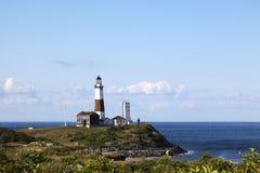 俯视Montauk点灯塔 免版税库存照片