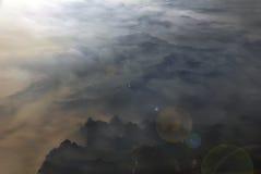 俯视qinling的航空山 库存图片