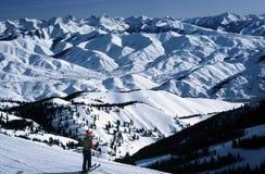 俯视Sun Valley的爱达荷 库存图片