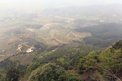 俯视tianzhushan & x28;天空专栏& x29;山 库存照片