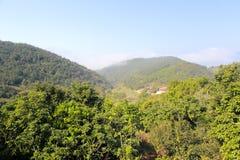 俯视zaoshui村庄 免版税库存图片