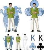 俱乐部亚洲男性党主人的国王有女性的 免版税图库摄影