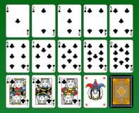 俱乐部卡片标志甲板 库存图片