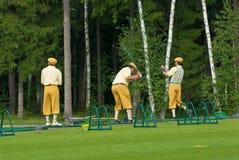 俱乐部国家(地区)高尔夫球运动员&# 库存照片