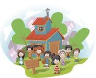 俱乐部房子孩子 免版税库存图片