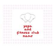 俱乐部日志现代瑜伽年轻人 免版税库存照片