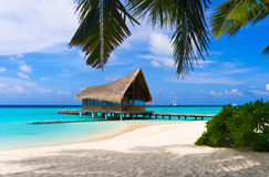 俱乐部热带潜水的海岛 图库摄影