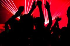 俱乐部跳舞激光人 免版税库存照片