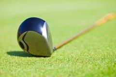 俱乐部驱动器高尔夫球 库存照片