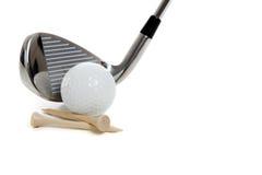 俱乐部高尔夫球用品 免版税库存图片