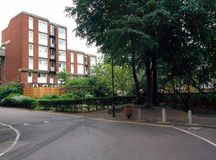 倍克斯城霍洛威路视图街市在英国伦敦英国 免版税图库摄影