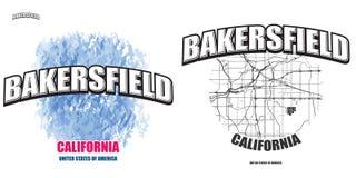 倍克斯城,加利福尼亚,两件商标艺术品 免版税库存图片