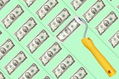 倍增从银行存款的金钱 免版税库存图片