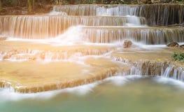 倍数分层堆积瀑布 库存图片
