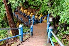 击倒一座山的梯子在泰国 库存图片