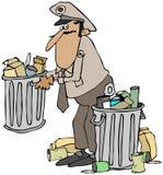 倒垃圾工人 向量例证
