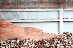 倒塌的墙壁 库存图片