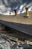 倒塌的屋顶 库存照片