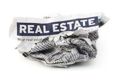 倒塌的房产市场 免版税库存图片