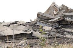 倒塌的混凝土建筑 免版税库存照片