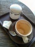 倒空咖啡 免版税库存图片