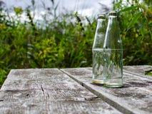 倒空被放弃的瓶 免版税库存图片