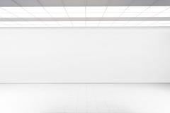 倒空大大厅墙壁大模型,没人, 3d翻译 库存照片