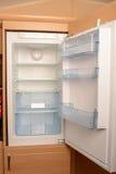 倒空开放冰箱 库存图片