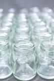 倒空玻璃组瓶子 免版税图库摄影