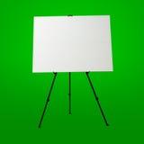 空的白色帆布和现代画架 免版税库存图片