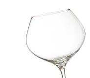 倒空白葡萄酒入与空间的一块玻璃文本的 免版税库存图片