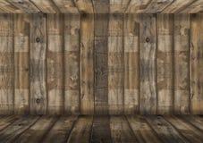 倒空礼物的木桌地板并且显示产品背景,复制投入的对象空间对显示 图库摄影