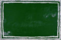 倒空绿色粉笔板背景空白黑板背景 图库摄影