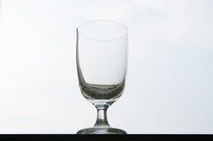 倒空玻璃酒 免版税库存图片