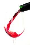 倒红葡萄酒 免版税库存图片