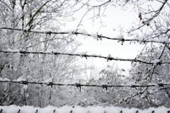 倒钩包括范围雪电汇 图库摄影