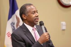 总统候选人博士 本卡森 免版税库存照片