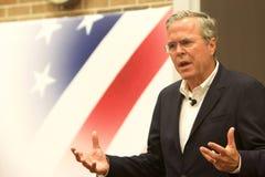 总统候选人杰布・布什 库存图片