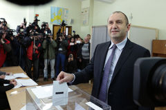 总统候选人瘤胃Radev 免版税库存图片