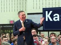 总统候选人约翰Kasich 库存图片