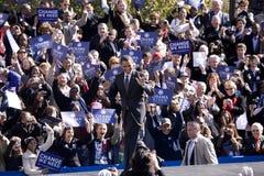 候选人Barack出现于早表决的Obama 免版税图库摄影